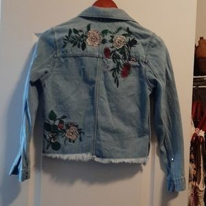 Adorable Embroidered H & M Coachella Jean Jacket